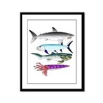 4 Extinct Sea Monsters Framed Panel Print