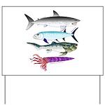 4 Extinct Sea Monsters Yard Sign