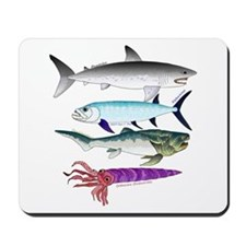 4 Extinct Sea Monsters Mousepad