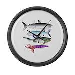 4 Extinct Sea Monsters Large Wall Clock