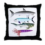 4 Extinct Sea Monsters Throw Pillow