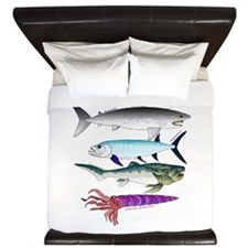4 Extinct Sea Monsters King Duvet