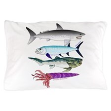 4 Extinct Sea Monsters Pillow Case