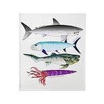 4 Extinct Sea Monsters Throw Blanket
