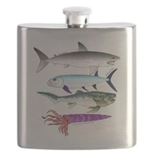 4 Extinct Sea Monsters Flask