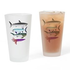 4 Extinct Sea Monsters Drinking Glass