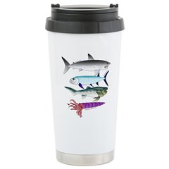 4 Extinct Sea Monsters Travel Mug