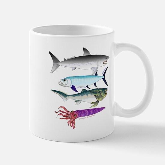 4 Extinct Sea Monsters Mugs