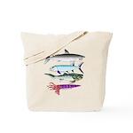 4 Extinct Sea Monsters Tote Bag