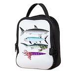 4 Extinct Sea Monsters Neoprene Lunch Bag