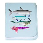 4 Extinct Sea Monsters baby blanket