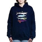 4 Extinct Sea Monsters Women's Hooded Sweatshirt