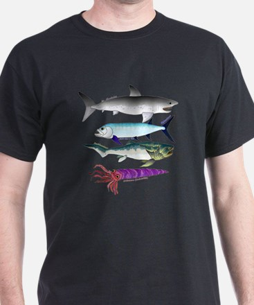 4 Extinct Sea Monsters T-Shirt