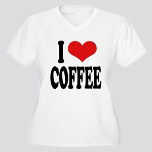 I Love Coffee Women's Plus Size V-Neck T-Shirt