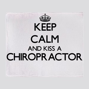 Keep calm and kiss a Chiropractor Throw Blanket