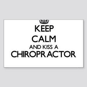 Keep calm and kiss a Chiropractor Sticker