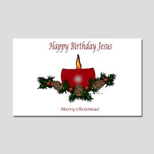 Happy Birthday Jesus Car Magnet 20 X 12