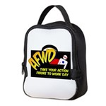 Action Figure Work Day Logo Neoprene Lunch Bag