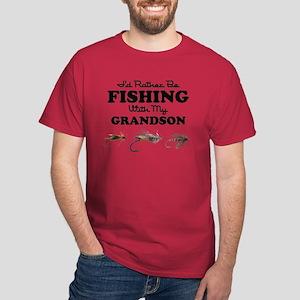 Rather Be Fishing Grandson Dark T-Shirt