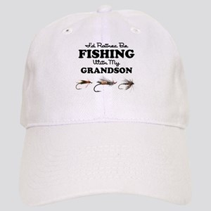 Rather Be Fishing Grandson Cap