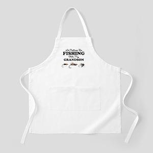 Rather Be Fishing Grandson Apron