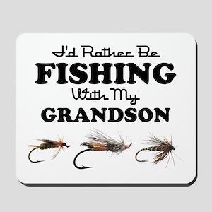 Rather Be Fishing Grandson Mousepad