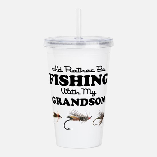 Rather Be Fishing Grandson Acrylic Double-wall Tum