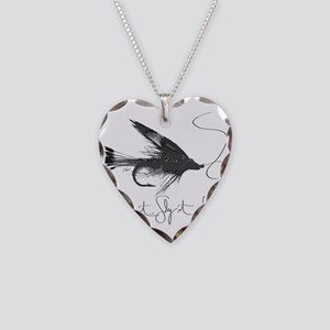 Tie It, Fly It! Necklace Heart Charm