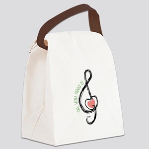 Need Music Canvas Lunch Bag