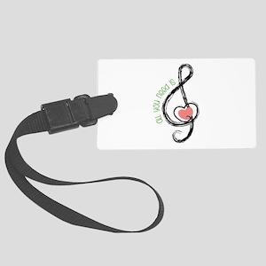 Need Music Luggage Tag
