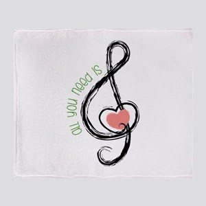 Need Music Throw Blanket