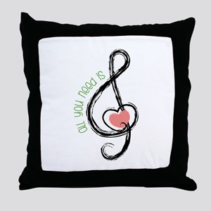 Need Music Throw Pillow