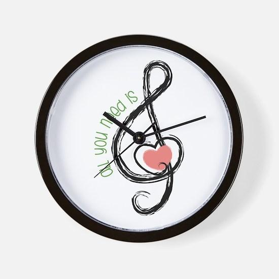 Need Music Wall Clock