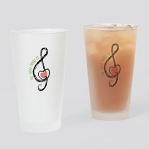 Need Music Drinking Glass