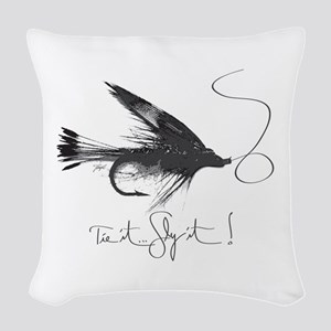 Tie It, Fly It! Woven Throw Pillow