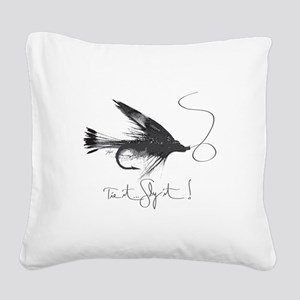 Tie It, Fly It! Square Canvas Pillow