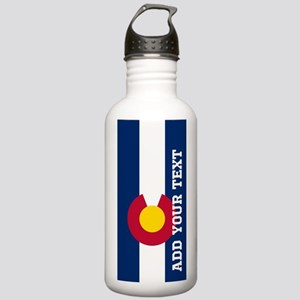 Monogram Customized Flag of Colorado Water Bottle