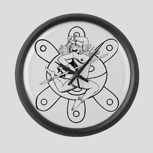 Taino queen Large Wall Clock