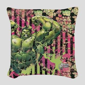 Hulk Avengers Woven Throw Pillow