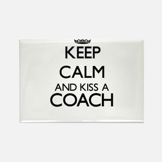 Keep calm and kiss a Coach Magnets