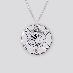 Taino queen Necklace Circle Charm