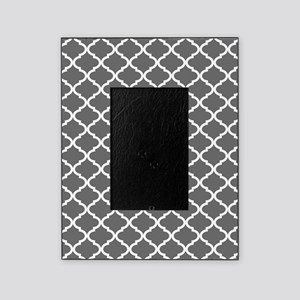 grey and white quatrefoil picture frames cafepress