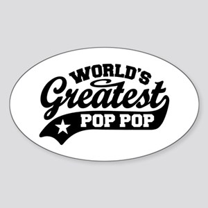 World's Greatest Pop Pop Sticker (Oval)
