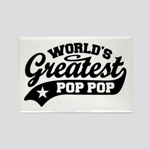 World's Greatest Pop Pop Rectangle Magnet