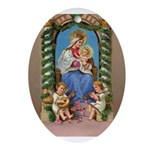 Nativity & Angels Ornament (oval)