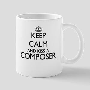 Keep calm and kiss a Composer Mugs