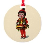 Bell Girl Round Ornament