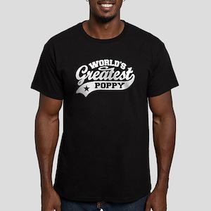 World's Greatest Poppy Men's Fitted T-Shirt (dark)
