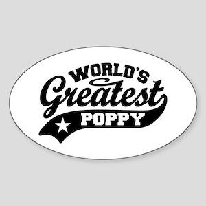 World's Greatest Poppy Sticker (Oval)