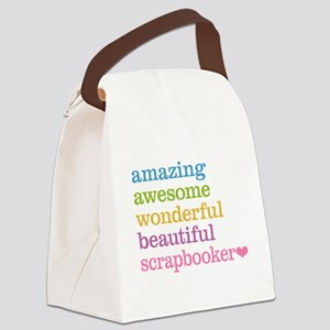 Scrapbooker Canvas Lunch Bag